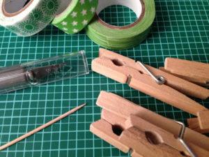 Wäscheklammern mit Tape