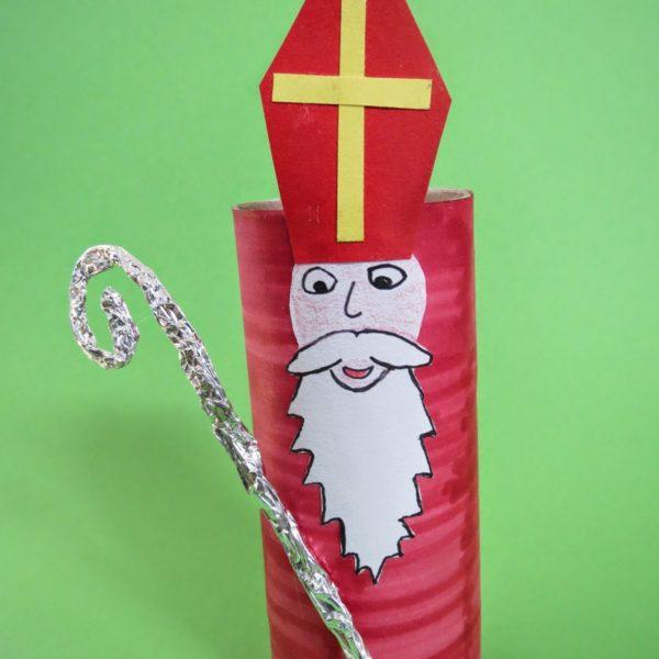 Nikolaus aus Toilettenpapierrolle