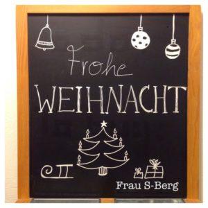 Weihnachts-Chalkboard-Bild