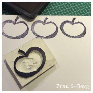 Apfelmuster: DIY-Stempel