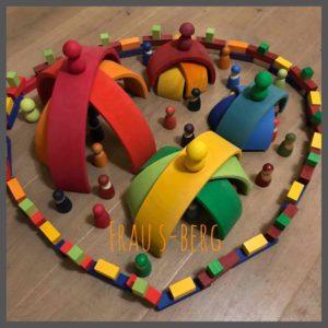Regenbogen-Bauten Holzspielzeug