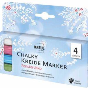 KREUL Chalky Kreidemarker Fensterdeko 4er-Set