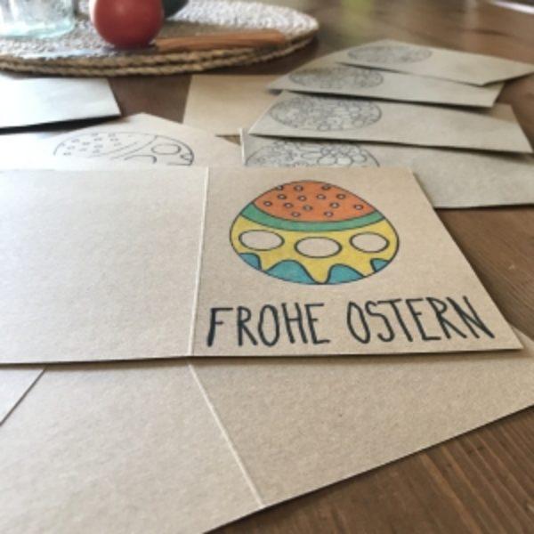 Osterkarten aus Kraftpapier