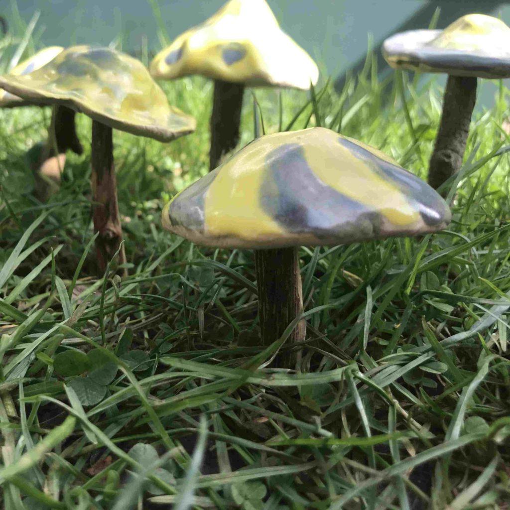 Pilze aus Ton