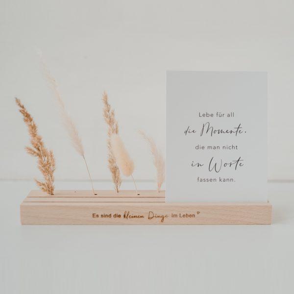 Postkartenständer Eulenschnitt Holz